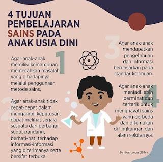 4 Tujuan Pembelajaran Sains pada Anak Usia Dini