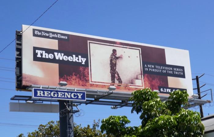 NY Times Weekly TV billboard