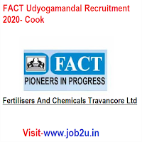 FACT Udyogamandal Recruitment 2020, Cook