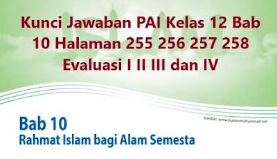 Kunci-Jawaban-PAI-Kelas-12-Bab-10-Halaman-255-256-257-258-Evaluasi-I-II-III-IV