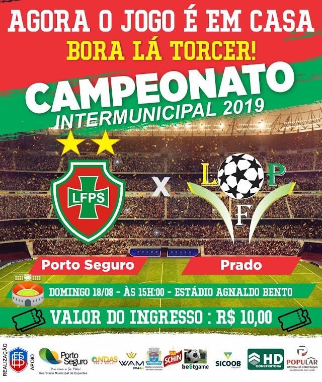 Porto Seguro e Prado se enfrentam nesse domingo pelo intermunicipal