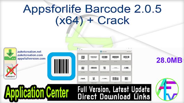 Appsforlife Barcode 2.0.5 (x64) + Crack