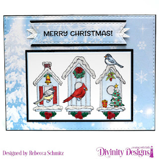 Stamp Set: Christmas Birdhouses,  Paper Collection: Christmas 2019, Custom Dies: Rectangles, Double-Stitched Rectangles, Windowsill Candles, Double Stitched Pennant Flags