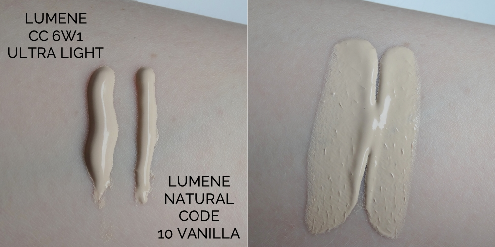 Lumene CC Cream 6w1 Ultra Light, Lumene Natural Code 10 Vanilla