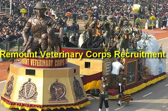 Remount Veterinary Corps Recruitment In SSC (Indian Army Jobs)