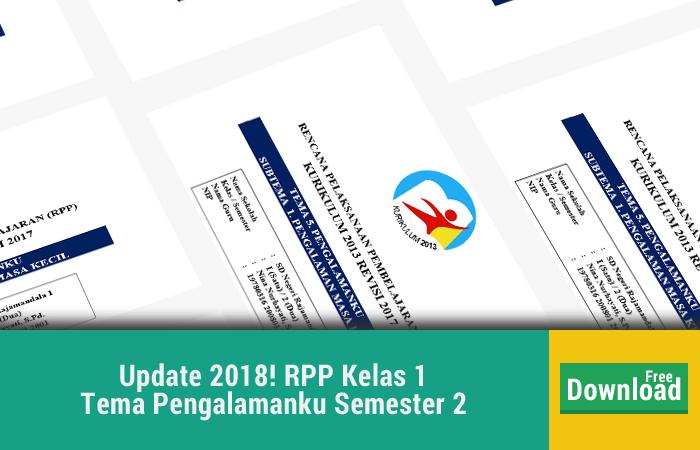 RPP Kelas 1 Tema Pengalamanku Semester 2 Revisi Terbaru