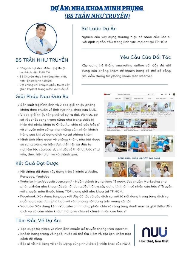 Dự án triển khai cho marketing phòng khám nha khoa