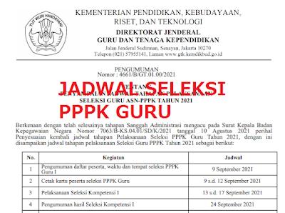 SIMAK! Jadwal Pelaksanaan Seleksi PPPK Guru Tahun 2021