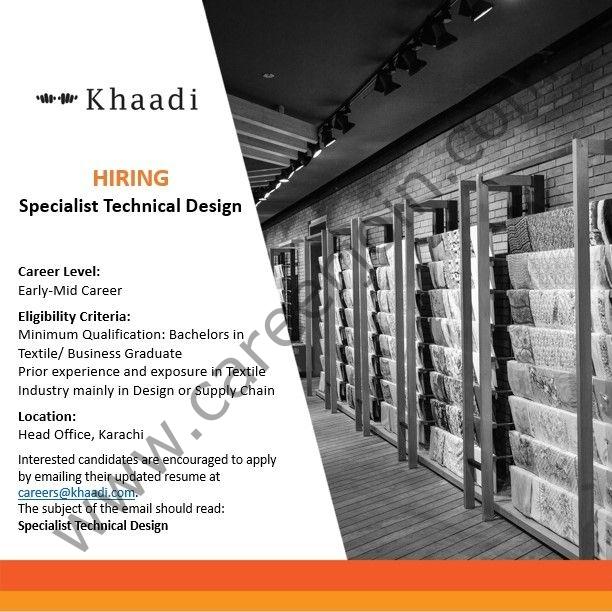 careers@khaadi.com - Khaadi Pakistan Jobs 2021 in Pakistan