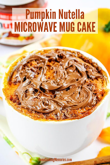 Pumpkin Nutella Microwave Mug Cake Recipe