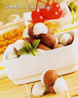 Resep Kue - Chocolate Ball Cookies Lezat