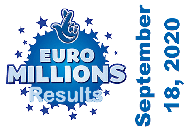 EuroMillions Results for Friday, September 18, 2020