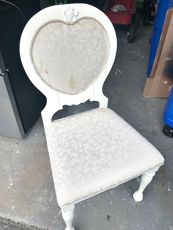 Old stained chair