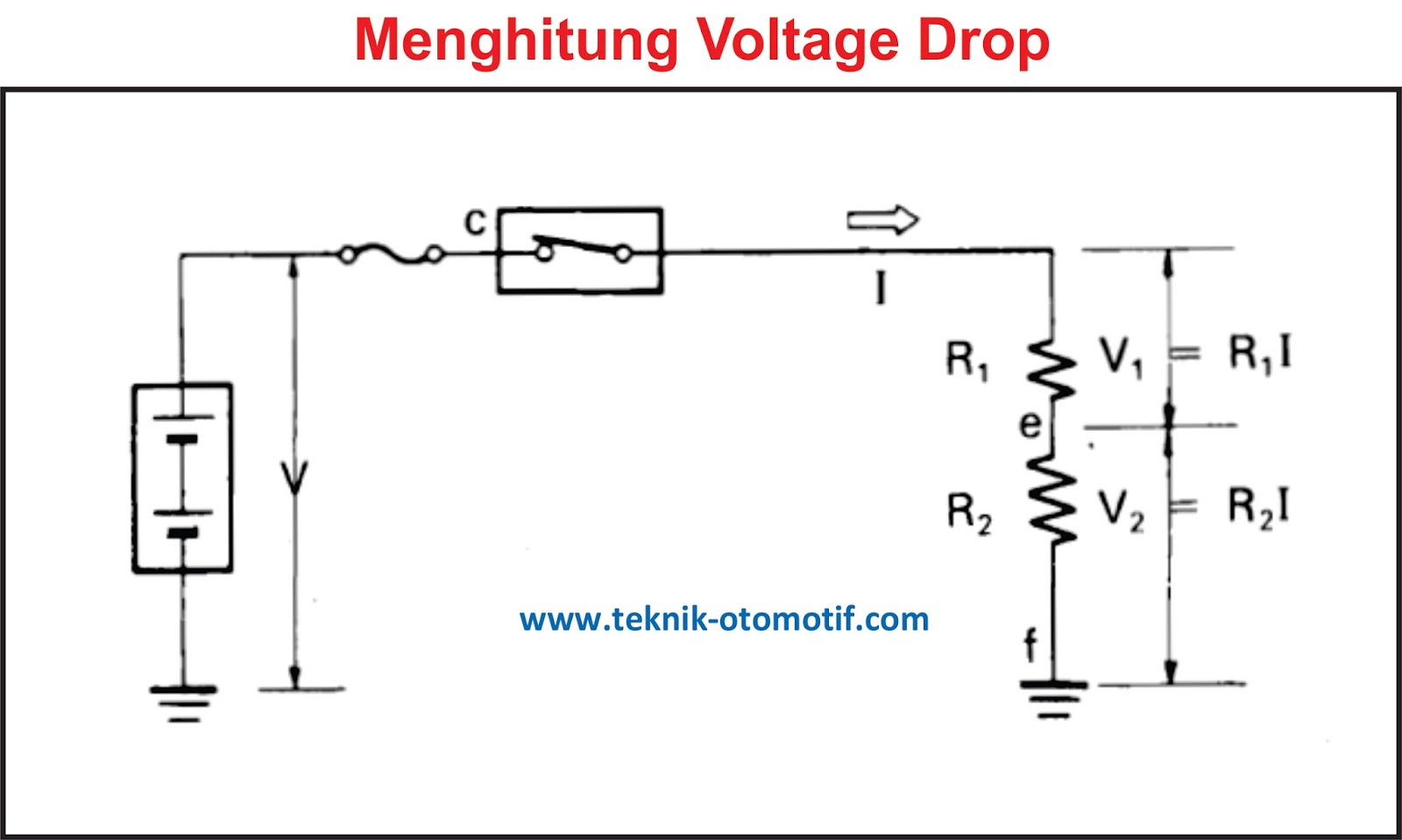 Pengertian Voltage Drop (Tegangan Jatuh) | teknik-otomotif.com