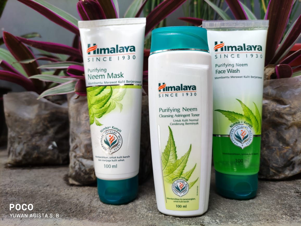 Review Himalaya Herbals Purifying Neem Face Wash,  Face Mask & Cleansing Astringent Toner
