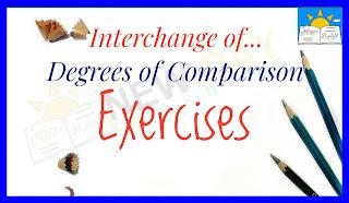 Interchange of degrees - Exercises
