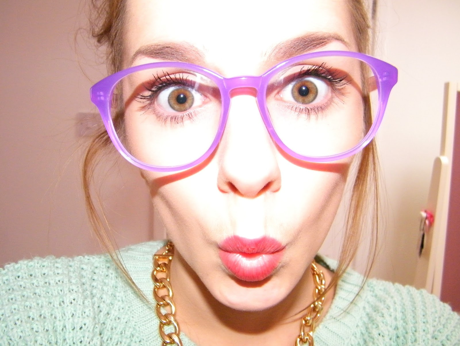 Firmoo Pink and Purple Glasses