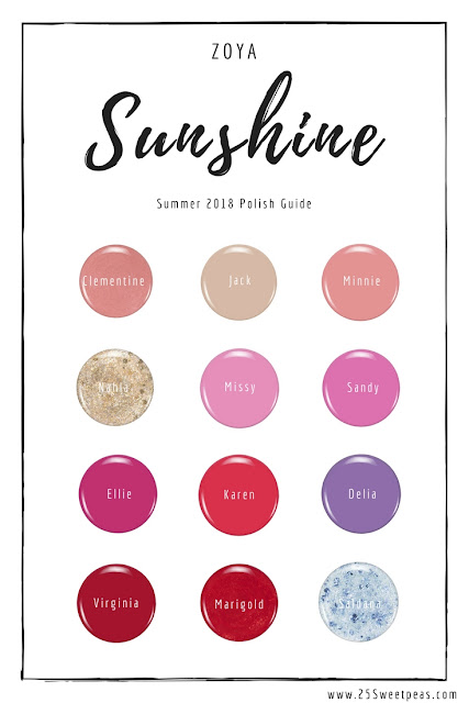 Zoya Sunshine Polish Guide