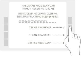 Pilih pemindahan rekening yang Anda inginkan