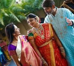 Jagapathi Babu and his wife with bride Meghna