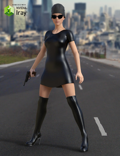 Secret Agent Outfit for Genesis 3 Female