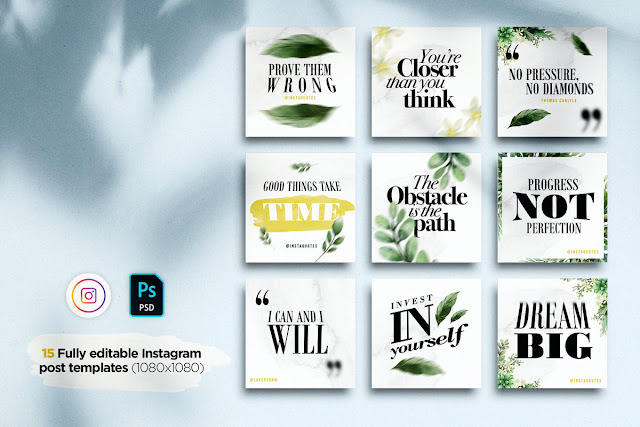 Classy Watercolor Instagram Quotes Posts %2526 Stories