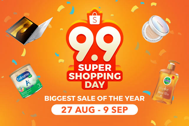Kuy Ikutan Shopee 9.9 Super Shopping Day, Festival Belanja Dengan Segudang Diskon