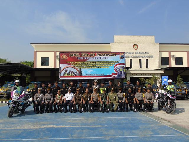 Kodim Karanganyar - Apel Gelar Pasukan Operasi Patuh Candi 2019 Polres Karanganyar