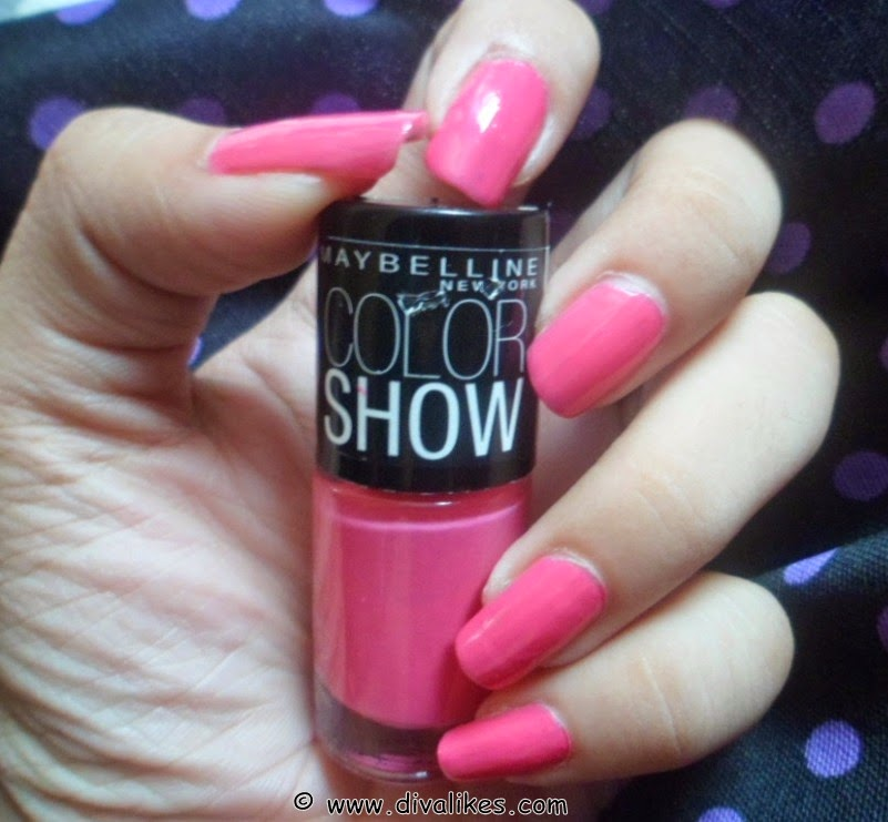 About Maybelline Color Show Nail Lacquer Fiesty Fuschia
