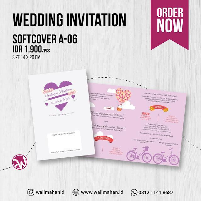 Undangan Pernikahan Softcover A06 - Walimahanid | 0812-1141-8687