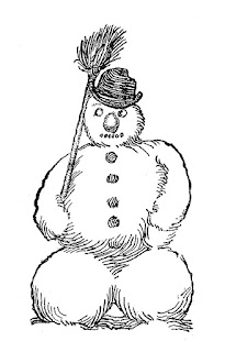snowman image winter clip art illustration