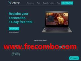 [Openbullet] haste.net config (Cloud gaming)