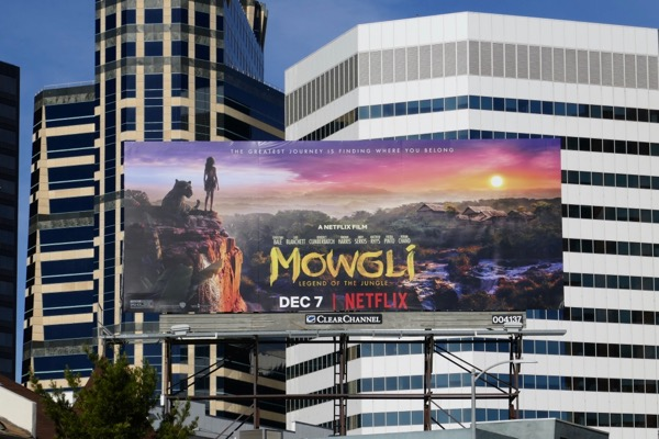 Mowgli Legend of Jungle movie billboard
