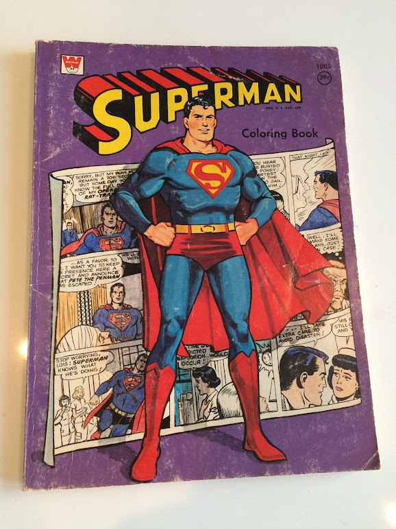 Whitman Superman coloring book