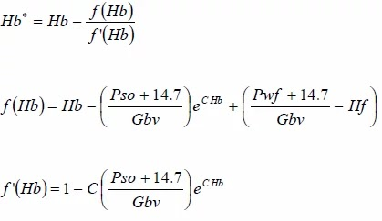 Grupos de ecuaciones de Hb