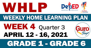 WEEKLY HOME LEARNING PLAN (WHLP) Week 4: Quarter 3