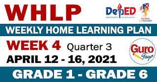 WEEKLY HOME LEARNING PLAN (WHLP) Week 4: Quarter 3