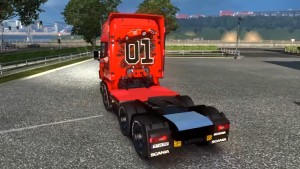 Scania RJL General Lee skin mod