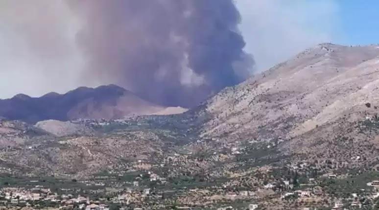 Μάνη: Μάχη με τα δύο ενεργά μέτωπα της πυρκαγιάς