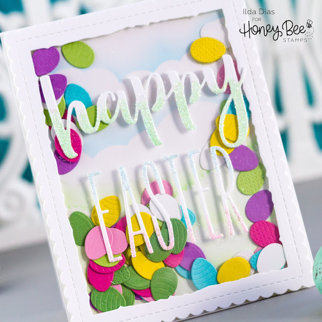 Happy Easter Egg Shaker Card,Spring Bliss Instagram Hop,Giveaway,Honey Bee Stamps, Itty Bitty Easter Egg Shaker Card,Card Making, Stamping, Die Cutting, handmade card, ilovedoingallthingscrafty, Stamps, how to,
