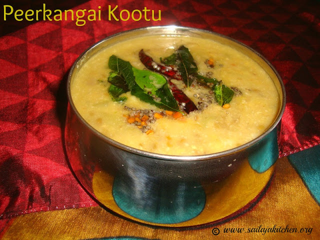images of Peerkangai Kootu Recipe / Ridge Gourd Kootu Recipe