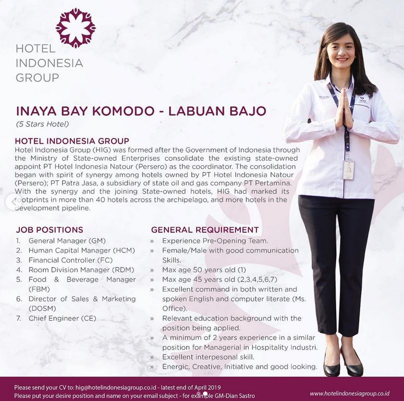 Lowongan Kerja Hotel Indonesia Group Lowongan Kerja Dan Rekrutmen Bulan Juni 2021