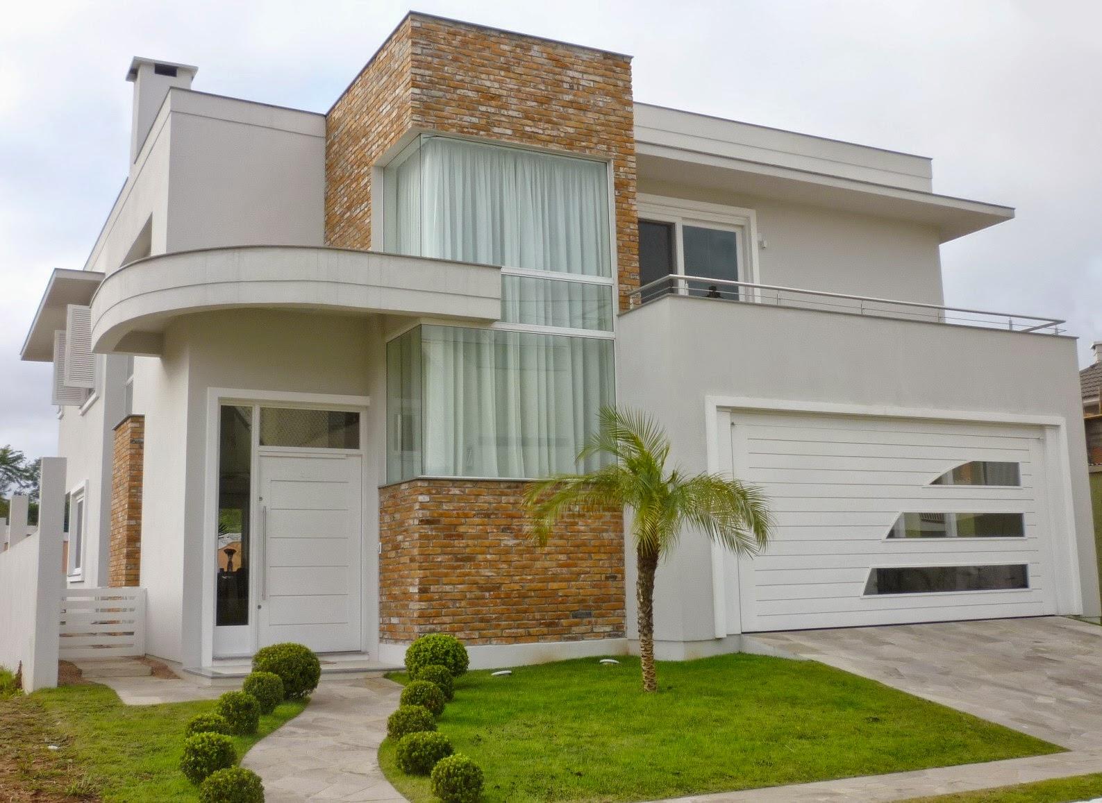 Construindo minha casa clean fachadas de casa com cores - Pintado de fachadas ...