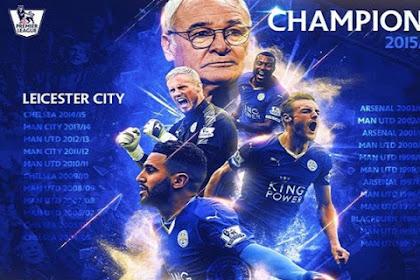Leicester City Juara Liga Primer Inggris Musim 2015/2016