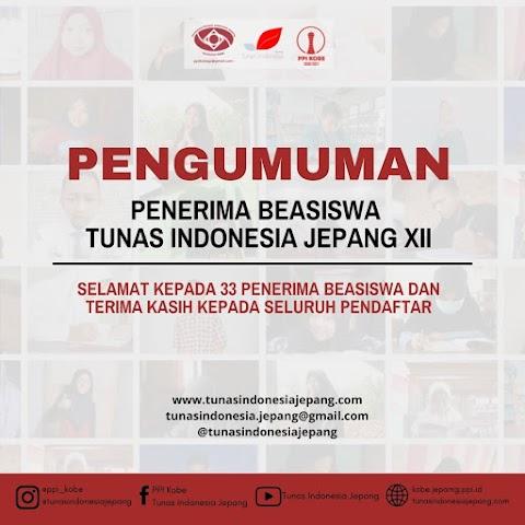 Pengumuman Penerima Beasiswa Tunas Indonesia Jepang Batch XII [2021]