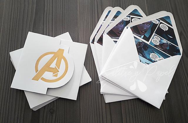 Invitaciones personalizadas Avengers