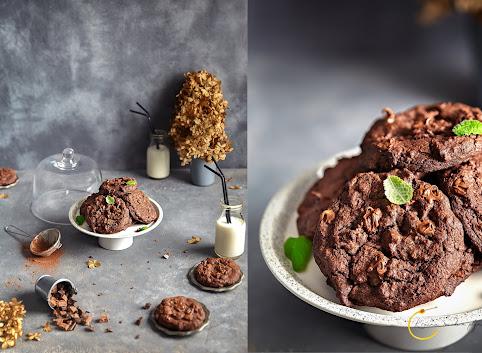 Amerykańskie ciastka podwójnie czekoladowe