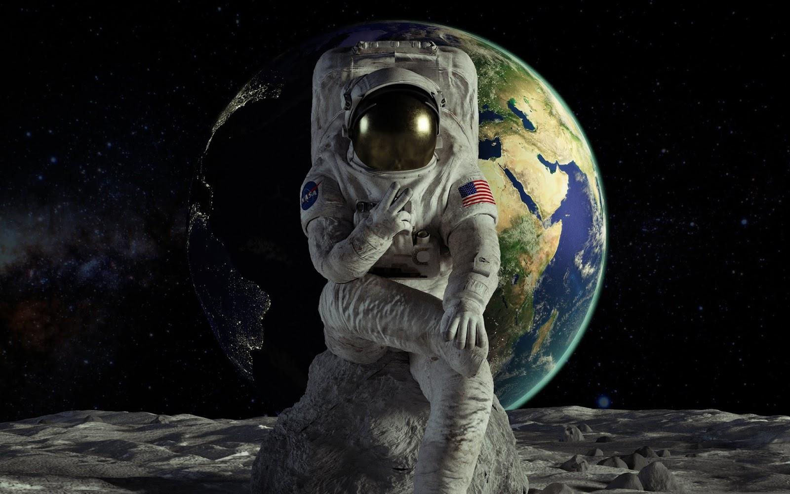 Astronaut, Earth, HD, Space