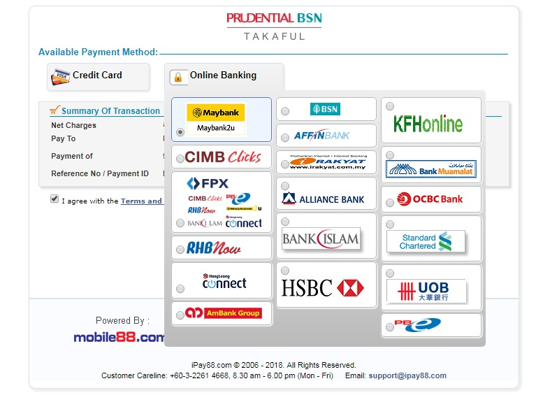 pay pruBSN prudential bsn takaful online