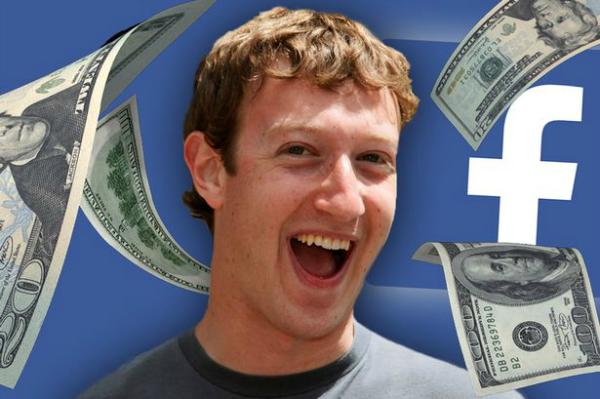 معدل ارباح مارك زوكربيرج مؤسس الفيس بوك فى الساعة والدقيقة والثانية